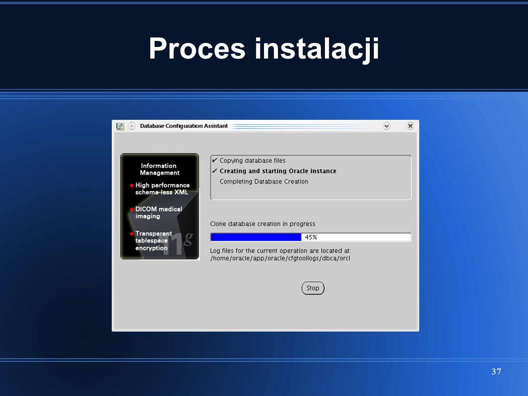 37 Proces instalacji