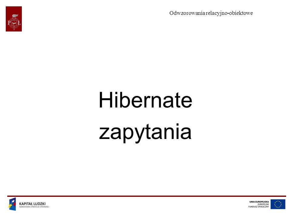 Odwzorowania relacyjno-obiektowe Hibernate zapytania