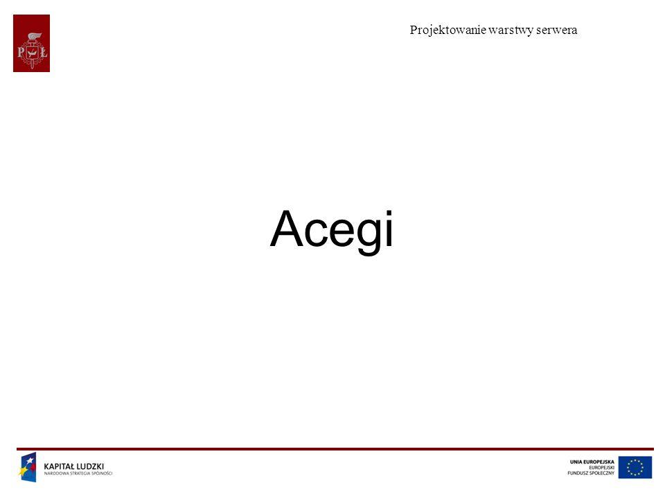Projektowanie warstwy serwera Acegi