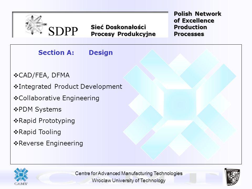 Centre for Advanced Manufacturing Technologies Wroclaw University of Technology Sieć Doskonałości Procesy Produkcyjne Polish Network of Excellence Pro