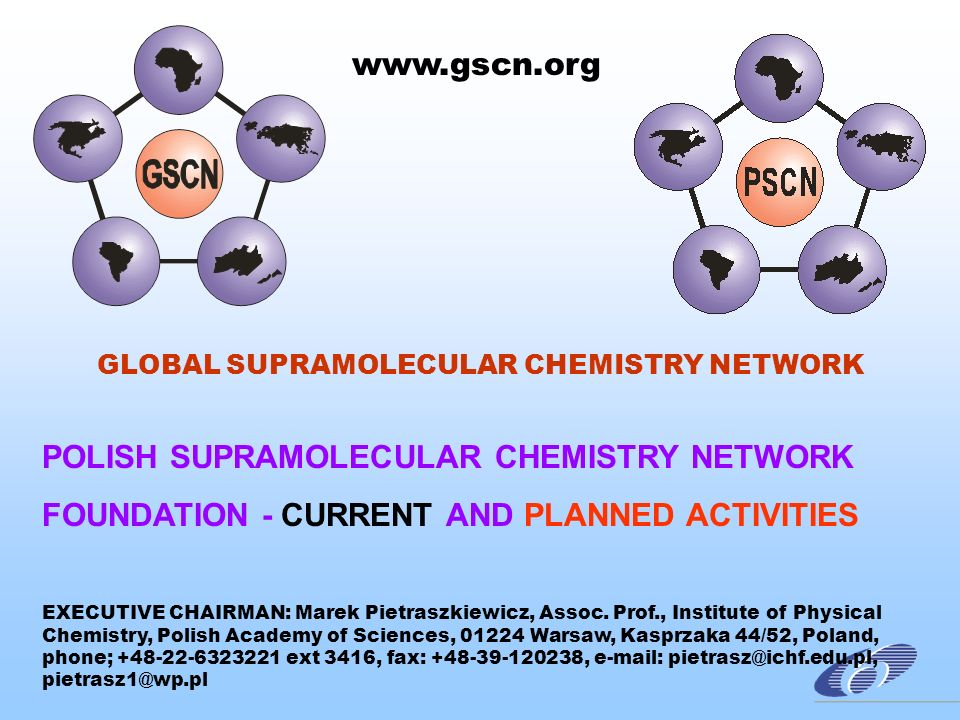 SUPRAMOLECULAR SCIENCE & TECHNOLOGY KNOWLEDGE-BASED POLYFUNCTIONAL ADVANCED MATERIALS NANO- MATERIALS XXI CENTURY SUPRA- AND NANOTECHNOLOGIES FOR: ENVIRONMENTAL PROTECTION HEALTH PROTECTION NOVEL, ALTERNATIVE CLEAN ENERGY SOURCES MICRO- & NANOELECTRONICS INFORMATICS TELECOMMUNICATION