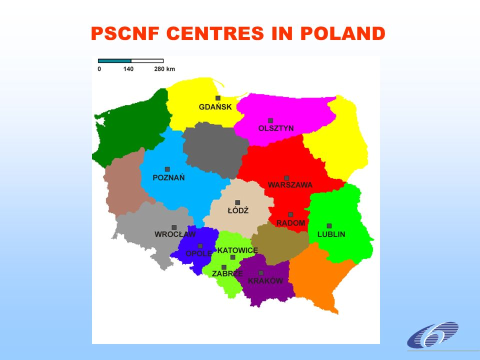 PSCNF CENTRES IN POLAND