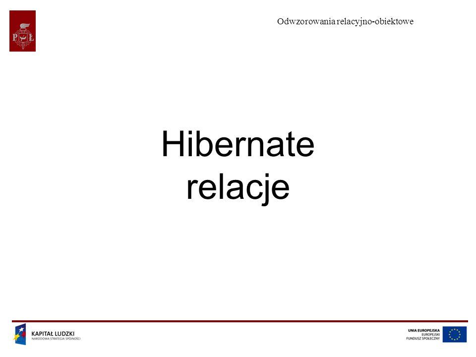 Odwzorowania relacyjno-obiektowe Hibernate relacje