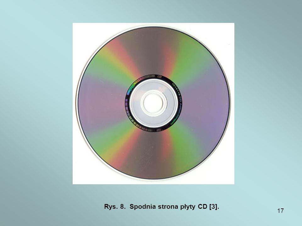 17 Rys. 8. Spodnia strona płyty CD [3].