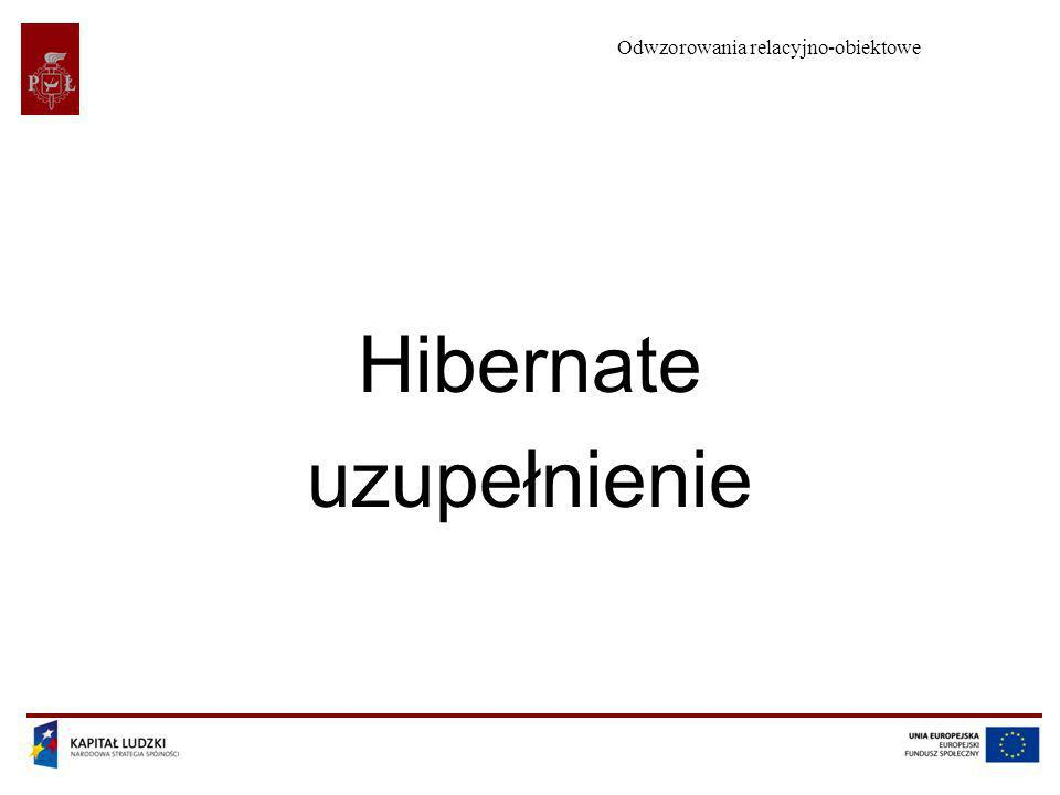 Odwzorowania relacyjno-obiektowe Hibernate uzupełnienie
