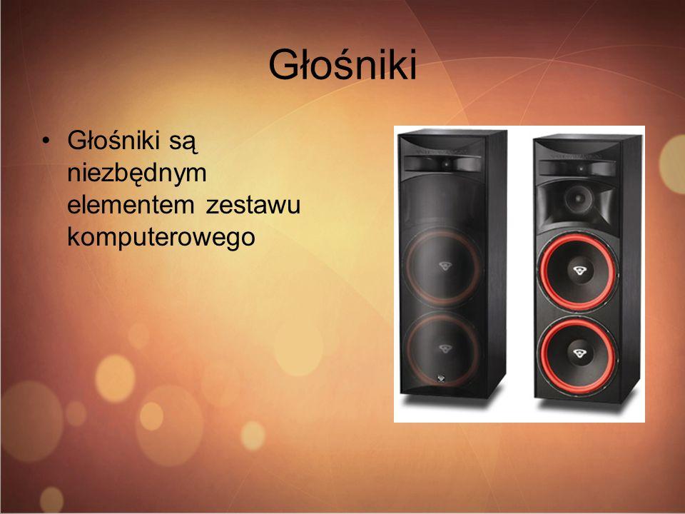 Głośniki Głośniki są niezbędnym elementem zestawu komputerowego