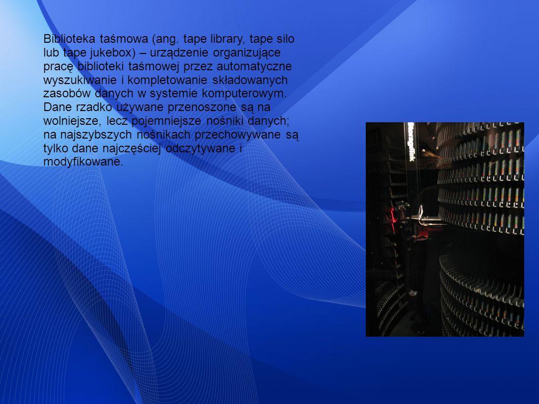 Biblioteka taśmowa (ang. tape library, tape silo lub tape jukebox) – urządzenie organizujące pracę biblioteki taśmowej przez automatyczne wyszukiwanie