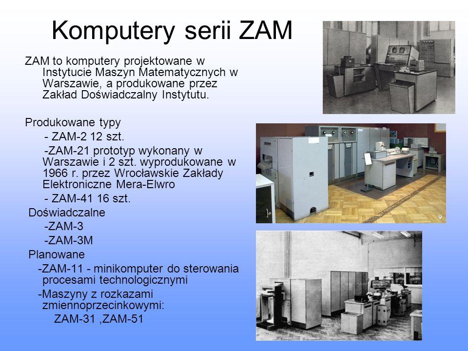 Komputery serii ZAM ZAM to komputery projektowane w Instytucie Maszyn Matematycznych w Warszawie, a produkowane przez Zakład Doświadczalny Instytutu.
