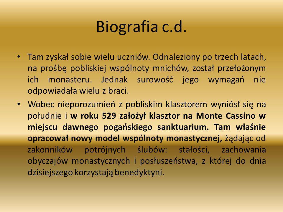 Biografia c.d.Tam zyskał sobie wielu uczniów.
