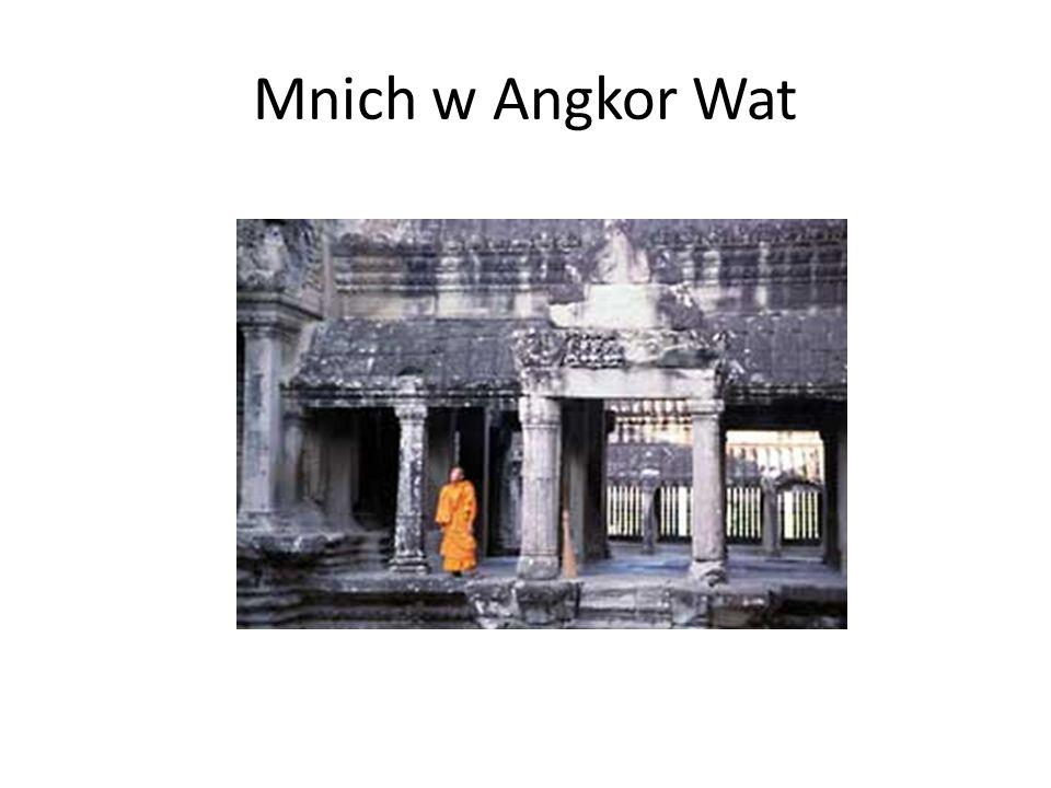 Mnich w Angkor Wat