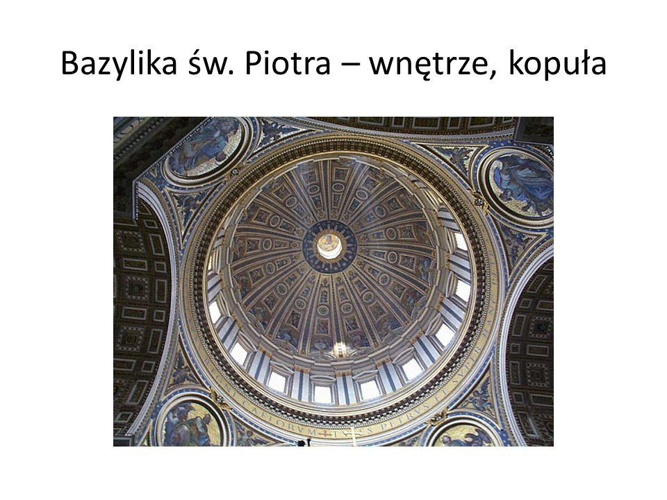 Bazylika św.Piotra w Watykanie została zbudowana w latach 1506-1616.
