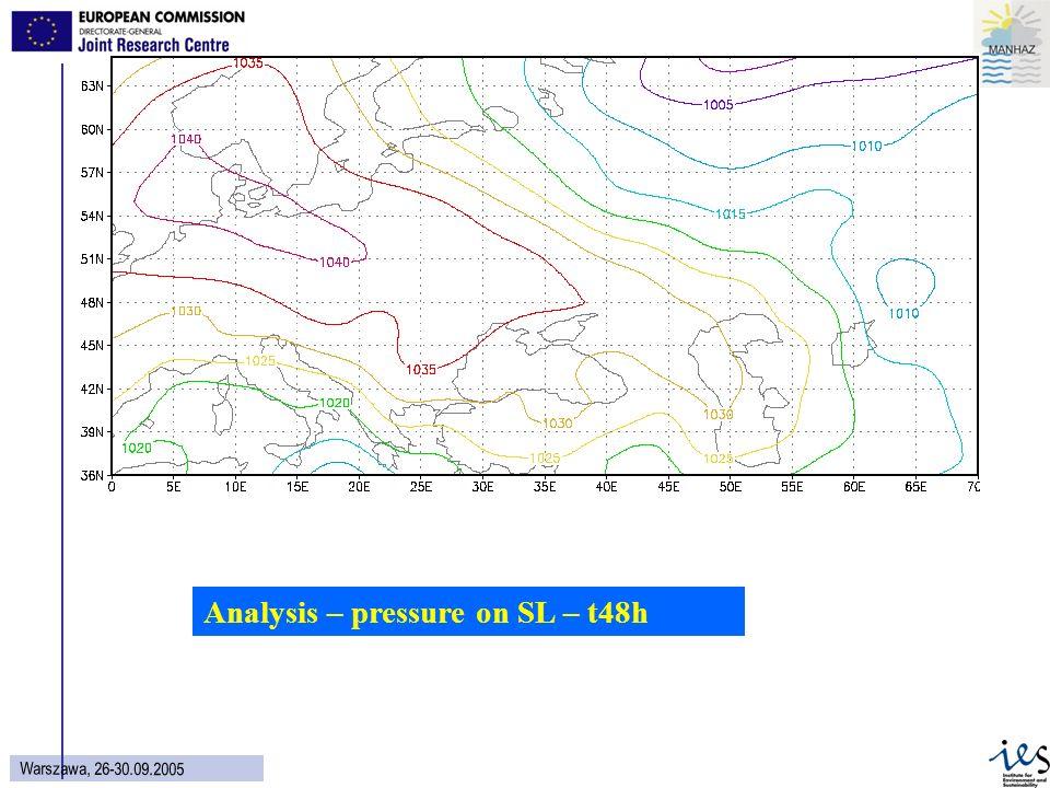 20 Wars z aw a, 26 - 30.09.2005 Analysis – pressure on SL – t48h