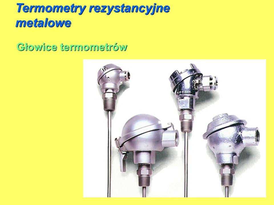 Głowice termometrów Termometry rezystancyjne metalowe