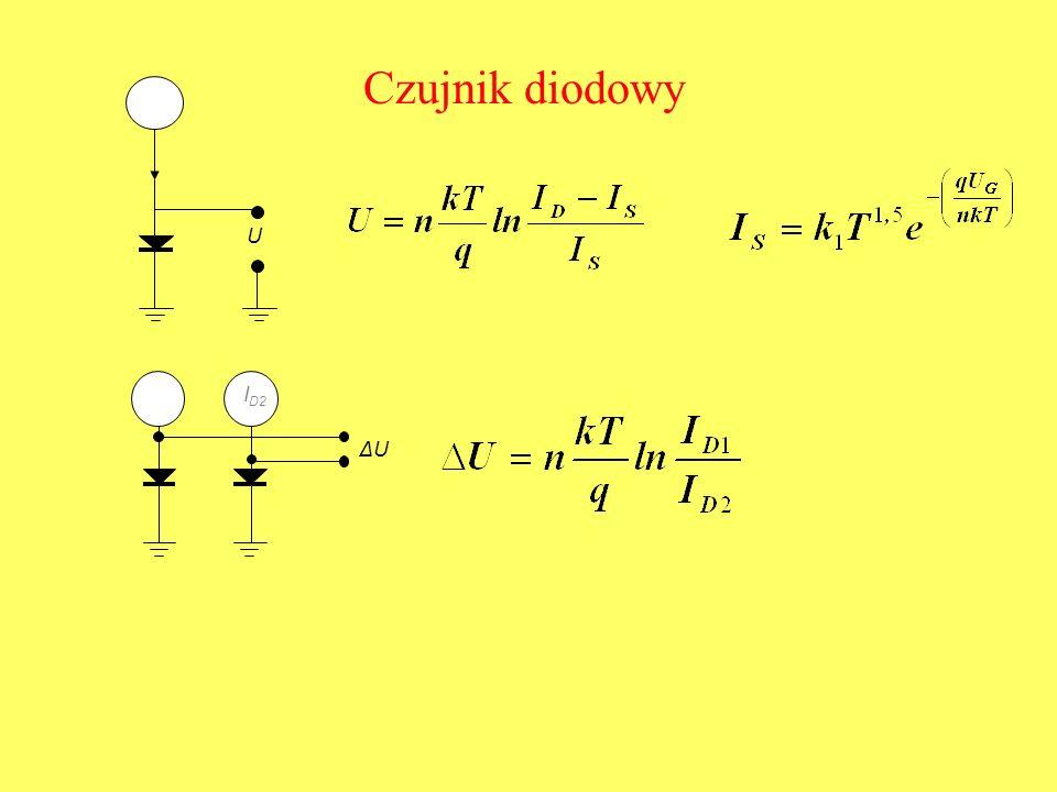 Czujnik diodowy U IDID ΔU I D2 I D1