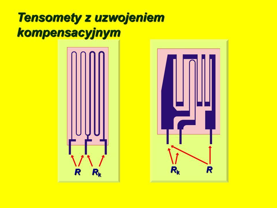 Parametry tensometrów foliowych folia metalowa technologia: technika fotolitograficznatechnika fotolitograficzna prostokątny prostokątnykształt: konstantan, konstantan,materiał: 1 do 20 m, 1 do 20 m,grubość: warstwa izolacyjna : poliyamid, błony fenolowe w szkle, poliyamid, błony fenolowe w szkle,materiał: 20 m 20 mgrubość:
