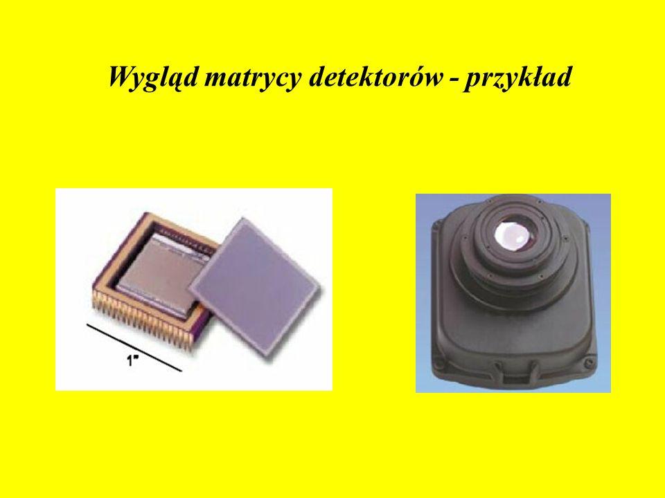 Matryca detektorów o rozmiarach 320x240 Moduł kamery obserwacyjnej Wygląd matrycy detektorów - przykład