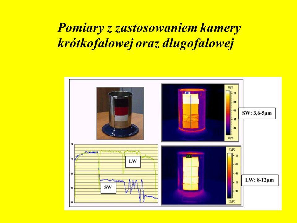 Pomiary z zastosowaniem kamery krótkofalowej oraz długofalowej