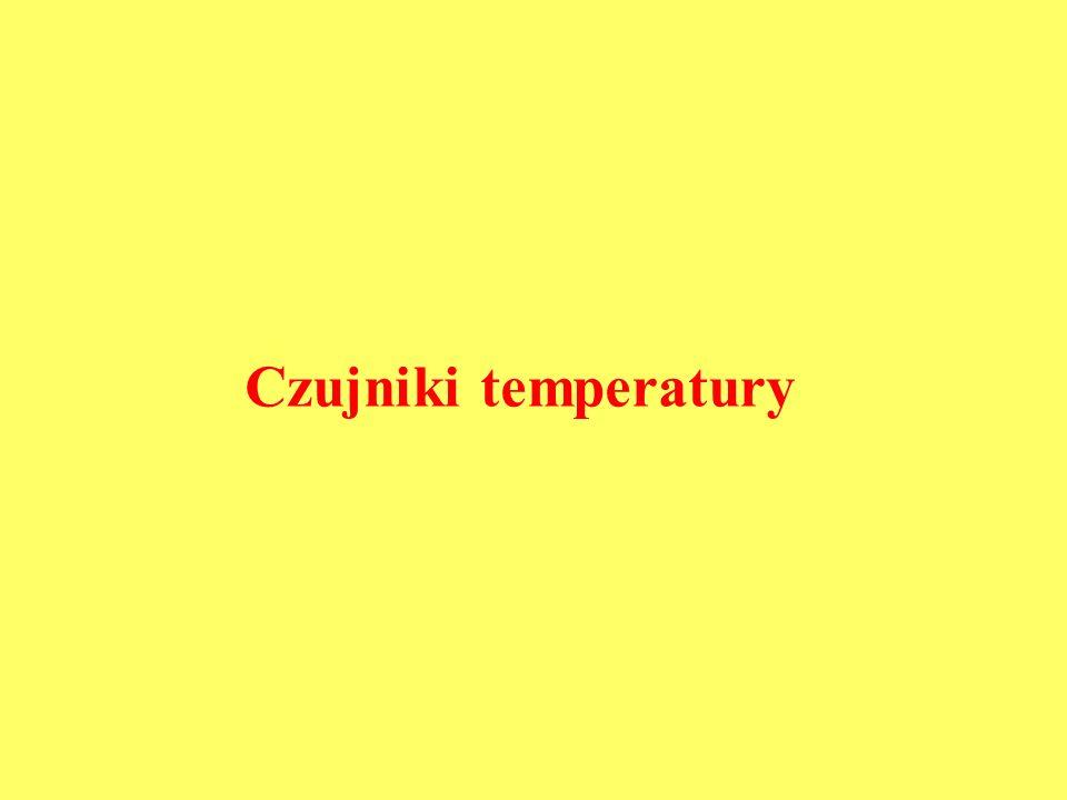 Rezystancyjne czujniki temperatury metalowepółprzewodnikowe termistorymonokryst. KTY PTCNTC RTDSPRT