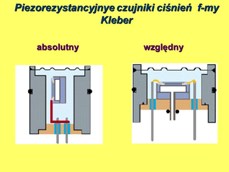 Piezorezystancyjnye czujniki ciśnień f-my Kleber absolutnywzględny