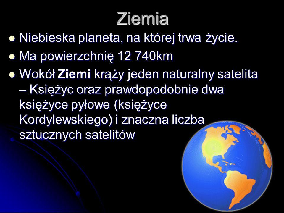 Ziemia Niebieska planeta, na której trwa życie.Niebieska planeta, na której trwa życie.