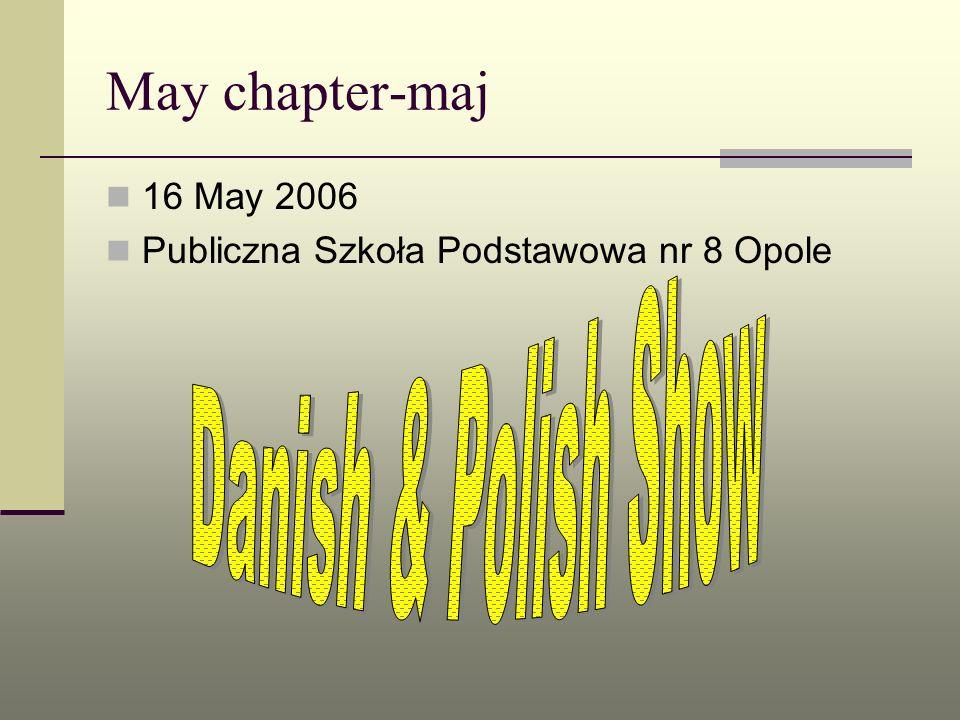 May chapter-maj 16 May 2006 Publiczna Szkoła Podstawowa nr 8 Opole