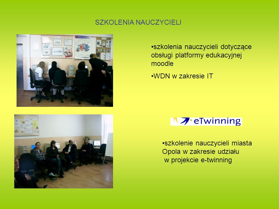 SZKOLENIA NAUCZYCIELI szkolenia nauczycieli dotyczące obsługi platformy edukacyjnej moodle WDN w zakresie IT szkolenie nauczycieli miasta Opola w zakr
