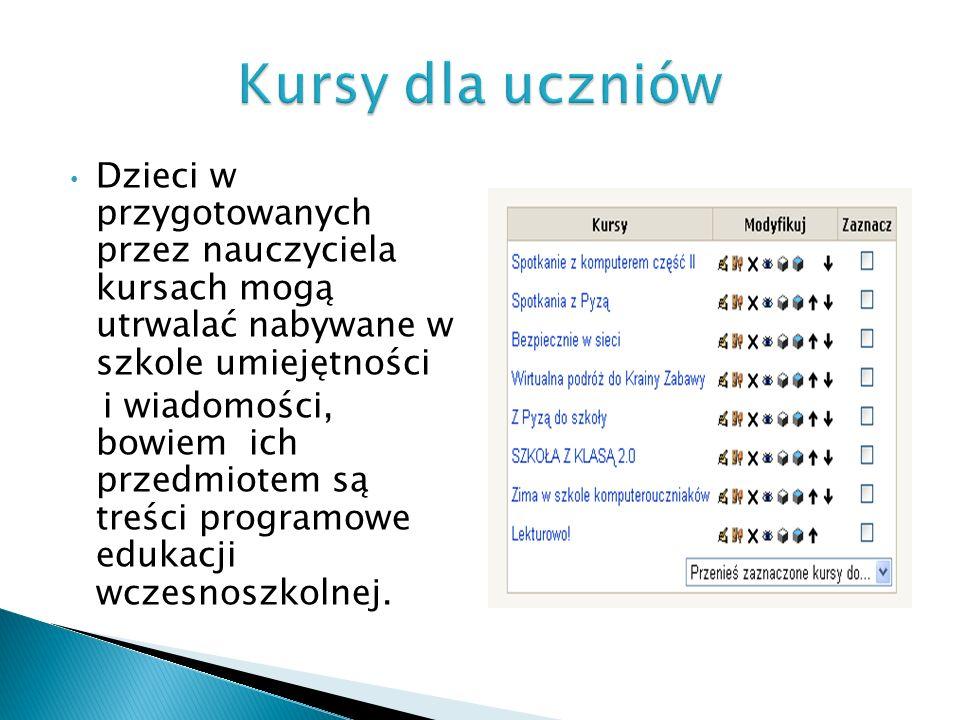Celem kursu jest inspirowanie ekspresji i aktywności dziecięcej, został on pogrupowany w trzy kręgi tematyczne: A to Polska właśnie, Poznajemy zwyczaje andrzejkowe i mikołajkowe, Nadchodzą święta Bożego Narodzenia