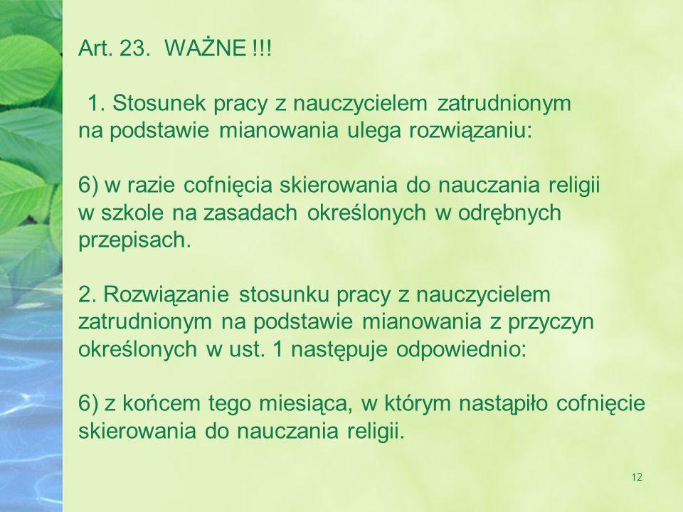 12 Art.23. WAŻNE !!.