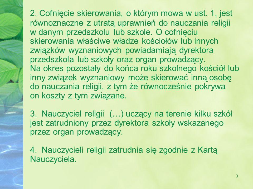 4 II.Dyrektorium ogólne o katechizacji Art. 7.
