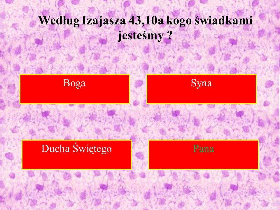 Boga Syna Do Syrii Pana Według Izajasza 43,10a kogo świadkami jesteśmy ? Ducha Świętego Pana