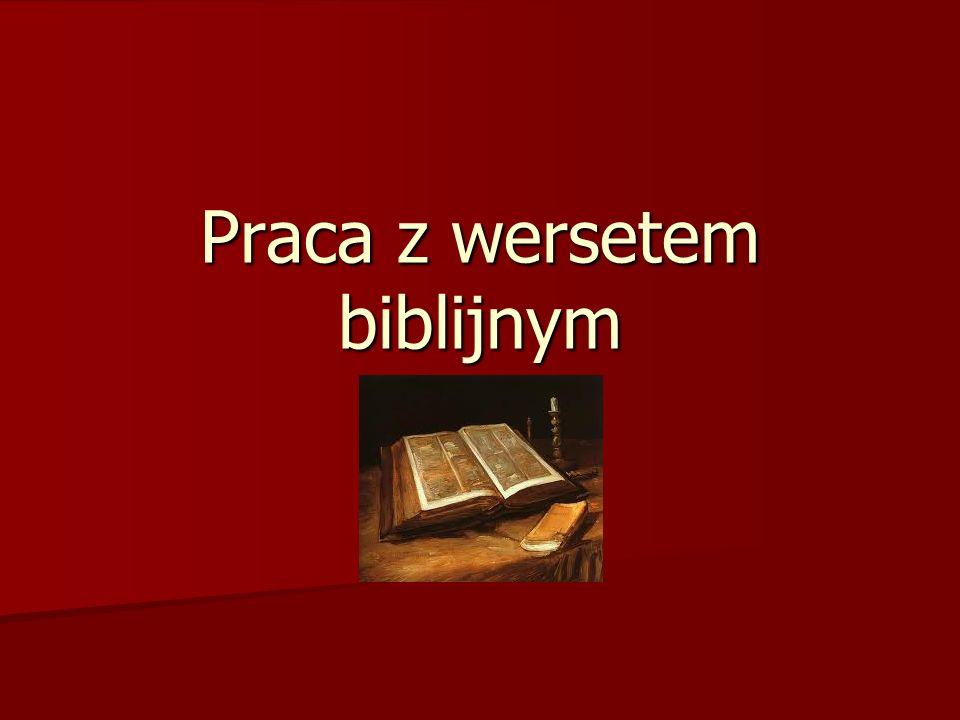 Praca z wersetem biblijnym
