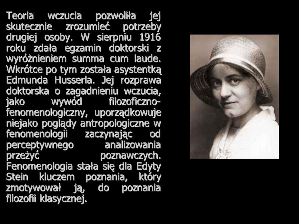 Teoria wczucia pozwoliła jej skutecznie zrozumieć potrzeby drugiej osoby. W sierpniu 1916 roku zdała egzamin doktorski z wyróżnieniem summa cum laude.