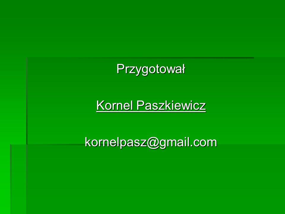 Przygotował Kornel Paszkiewicz kornelpasz@gmail.com