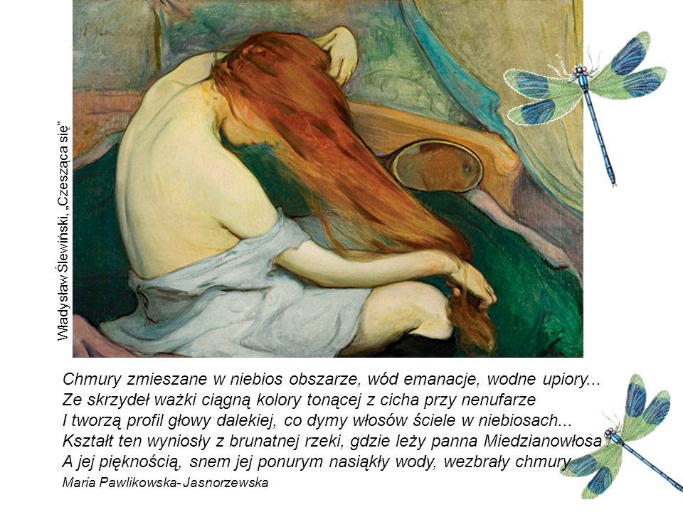 Femme fatale Kobieta panuje wszechwładnie w świecie secesji.