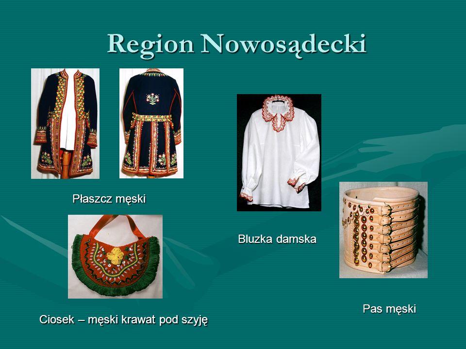 Region Nowosądecki Region Nowosądecki Płaszcz męski Bluzka damska Pas męski Ciosek – męski krawat pod szyję