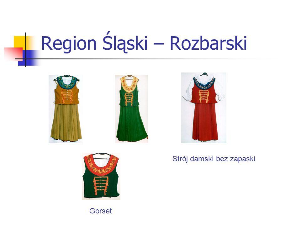 Region Śląski – Rozbarski Strój damski bez zapaski Gorset
