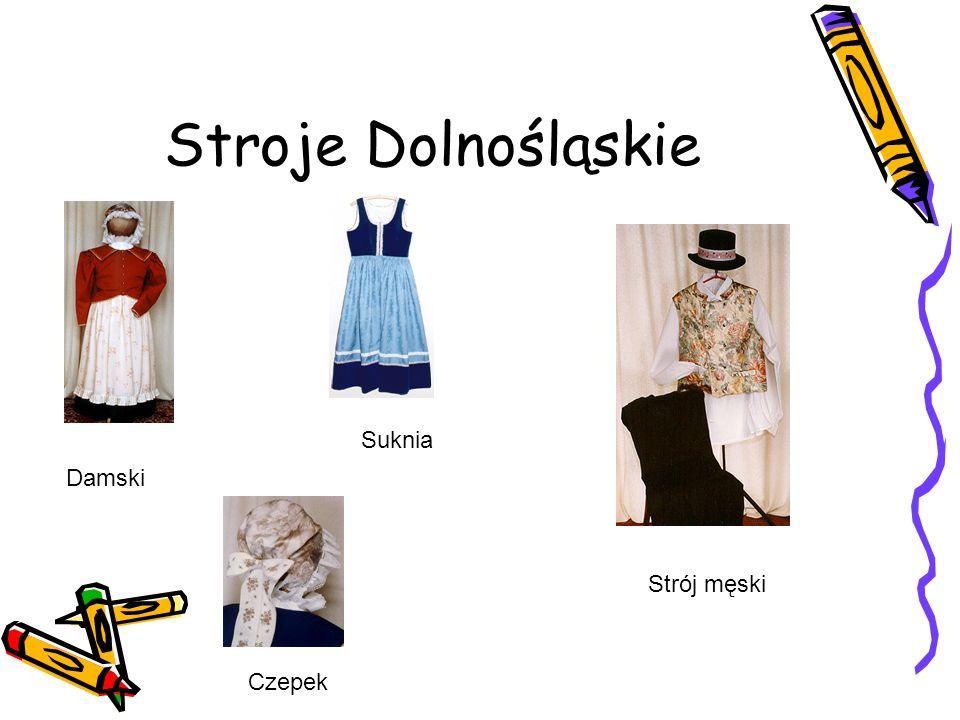 Stroje Dolnośląskie Damski Czepek Strój męski Suknia