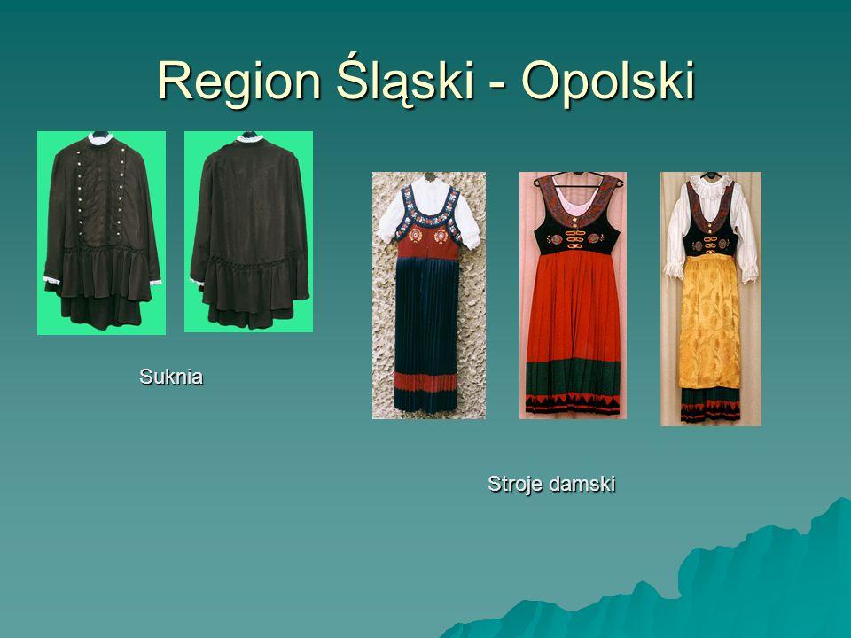 Region Śląski - Opolski Suknia Stroje damski