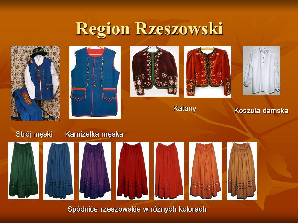 Region Rzeszowski Strój męski Kamizelka męska Katany Koszula damska Spódnice rzeszowskie w różnych kolorach