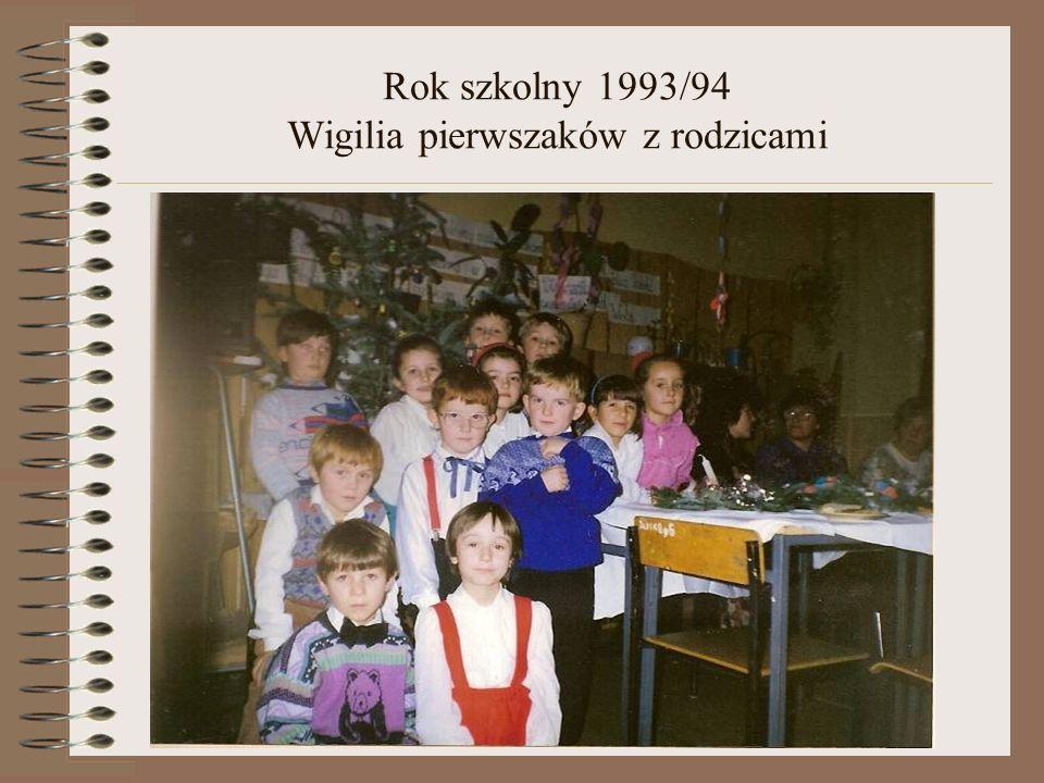 Rok szkolny 1993/94 Wigilia pierwszaków z rodzicami