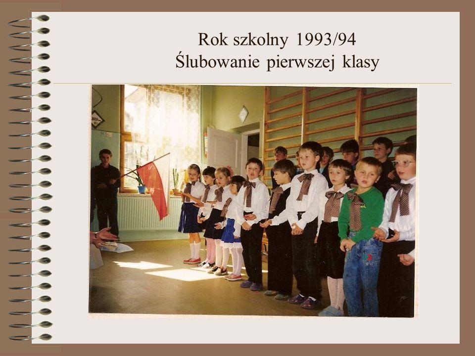 Rok szkolny 1993/94 Spotkanie z mikołajem