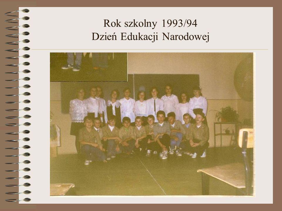 Rok szkolny 1993/94 Spotkanie z rodzicami- Ziemia oczekuje pomocy