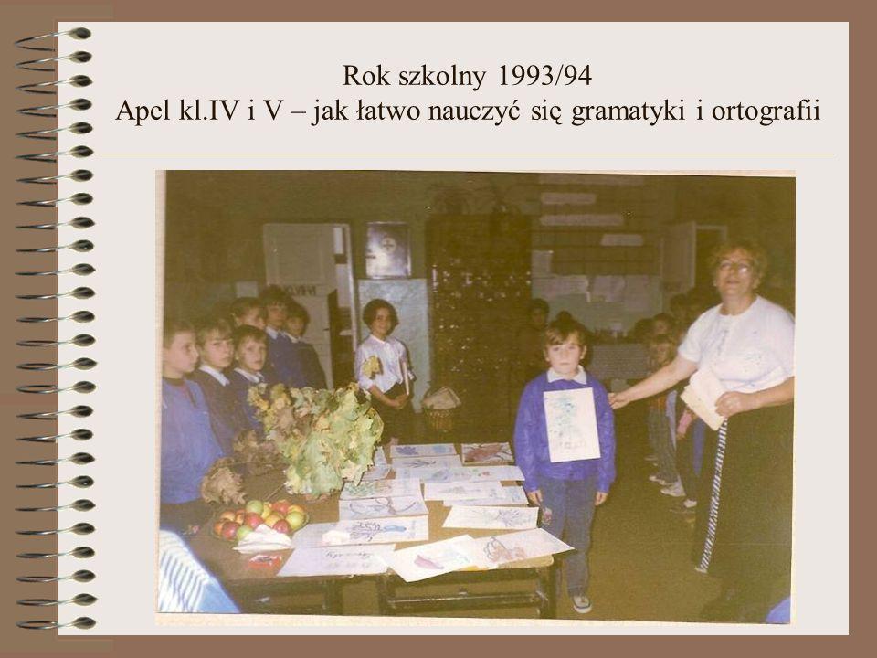 Rok szkolny 1993/94 Dzień Kobiet -apel