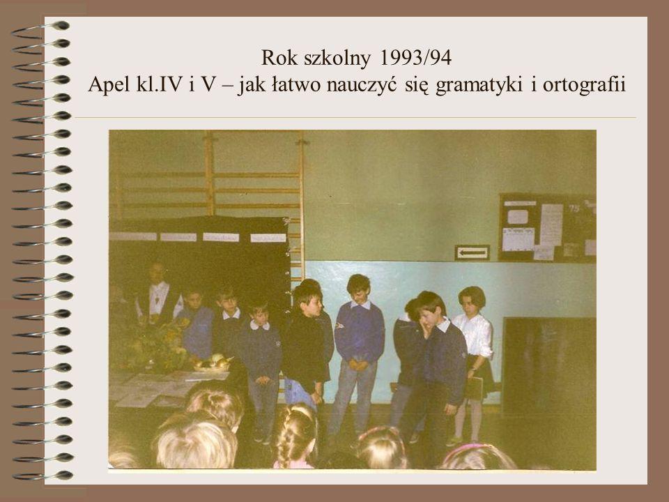 Rok szkolny 1993/94 Świąteczne spotkanie dla społeczności szkolnej