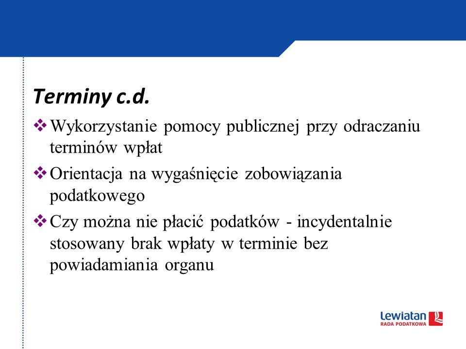 Terminy c.d.