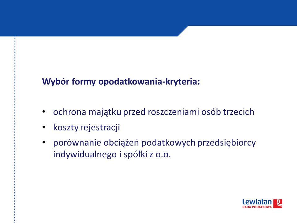 Amortyzacja jako narzędzie optymalizacyjne Preferencyjne zasady amortyzacji środków trwałych i wartości niematerialnych i prawnych dla: rozpoczynających działalność oraz małych podatników, możliwość zaliczenia w koszty odpisów do kwoty 50.000 EUR, zakres dotyczy jedynie środków trwałych zaliczonych do grupy 3 - 8 KŚT (z wyłączeniem samochodów osobowych).