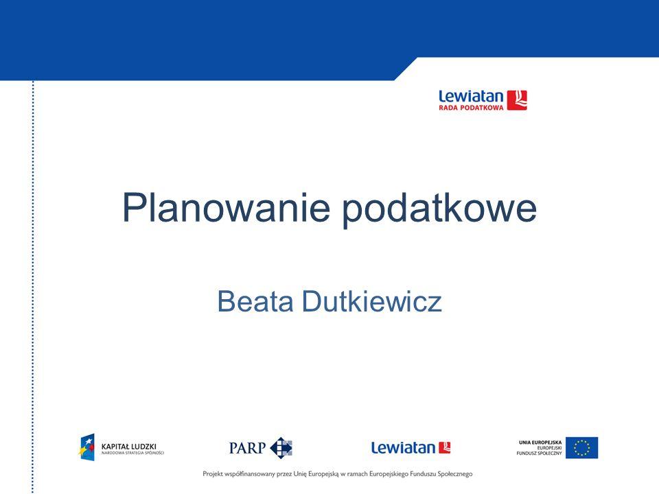 Planowanie podatkowe Beata Dutkiewicz