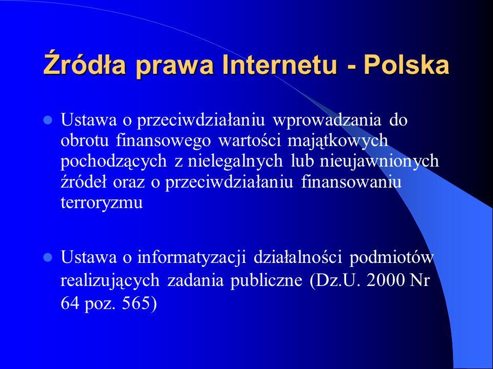 Źródła prawa Internetu - Polska Rozporządzenie Ministra Nauki i Informatyzacji z 29 sierpnia 2005 w sprawie sposobu prowadzenia oraz trybu dostarczania i udostępniania danych z Krajowej ewidencji systemów Teleinformatycznych i Rejestrów Publicznych (Dz.U.