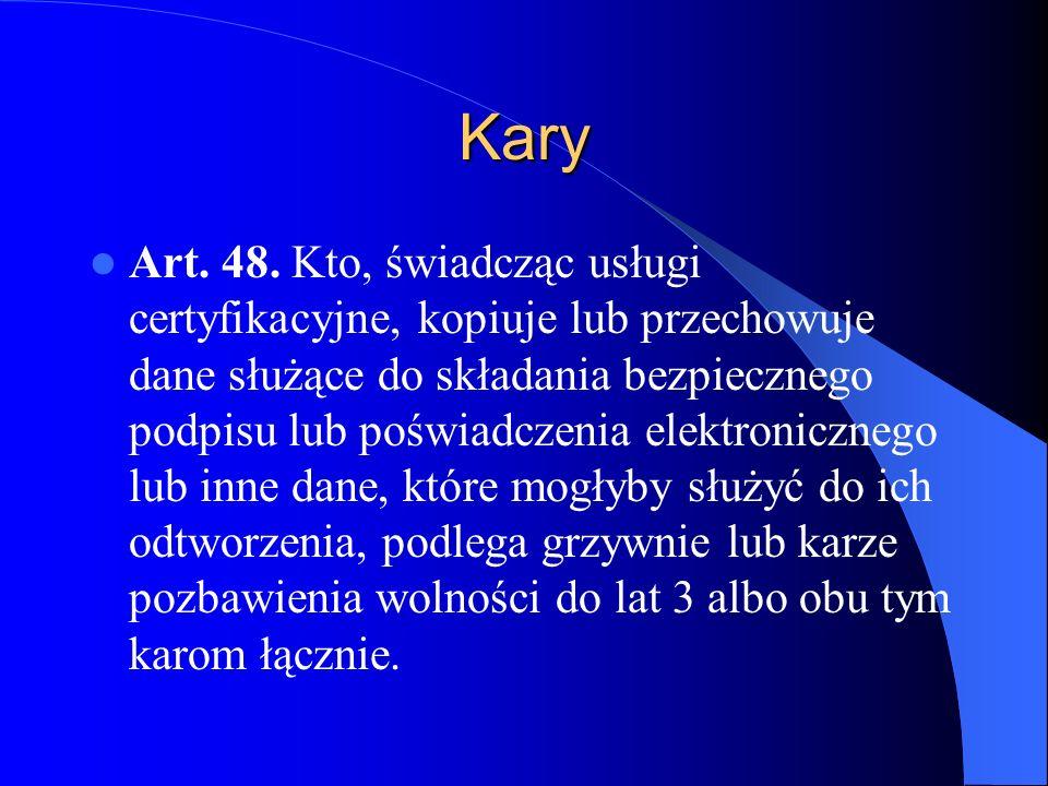 Kary Art.49. 1.