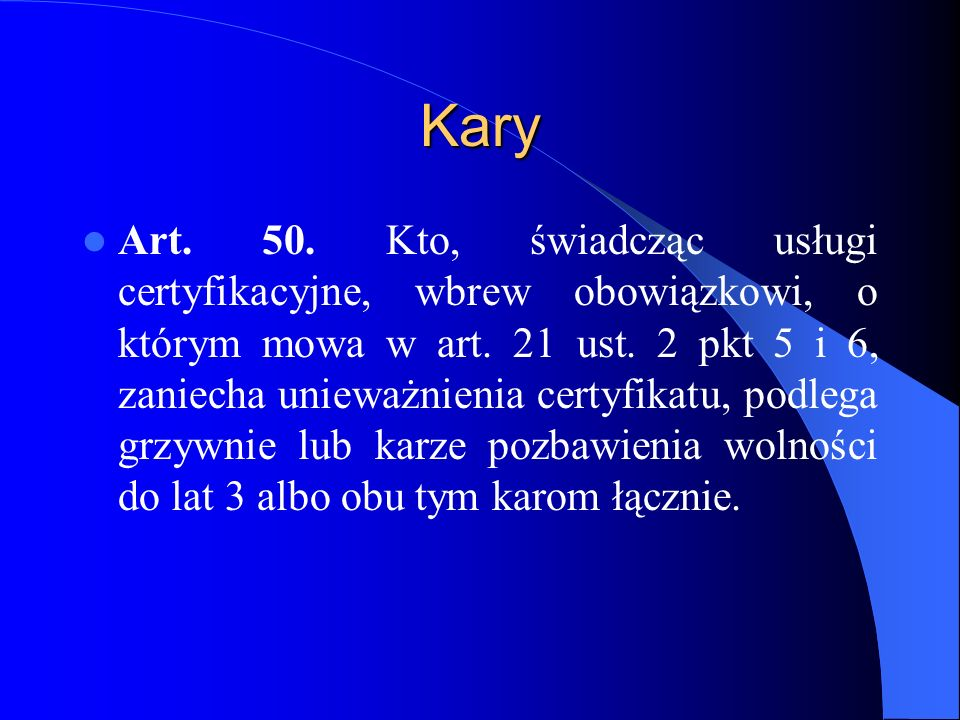 Kary Art.51.